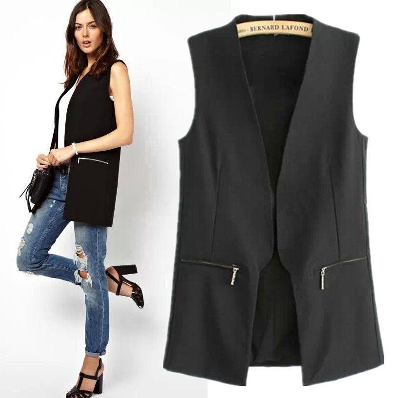 chaleco de vestir negro mujer - Buscar con Google  e7942c531e0f