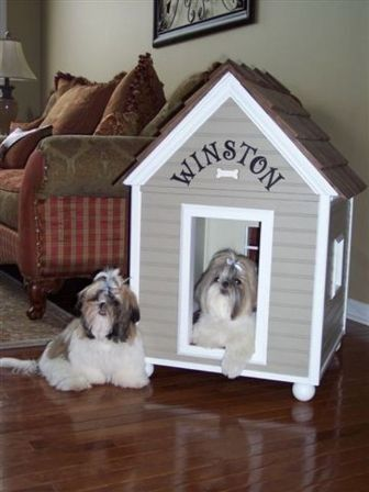 Cute Dog House For The Home Dog House Dog House Diy Indoor