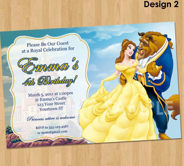 Beaty and the beast invitations | Beaty and the beast stuff ...