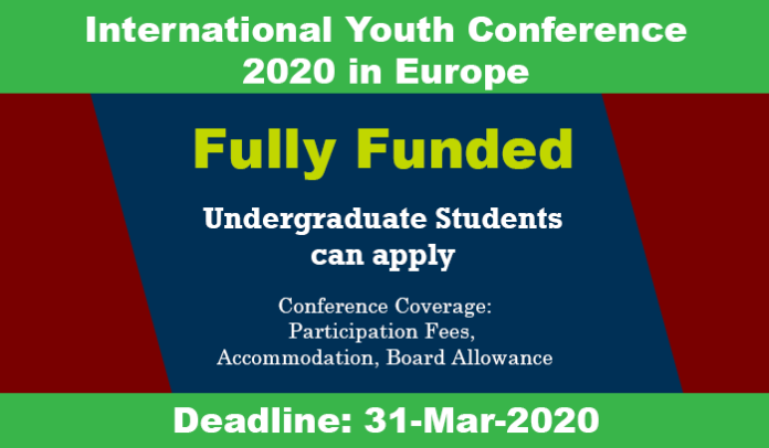 International Youth Conference 2020 In Europe Fully Funded Youth Conference Conference Europe