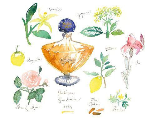 Parfum De Paris AquarelleImpressionDécor Shalimar Fine Guerlain PnwX80Ok