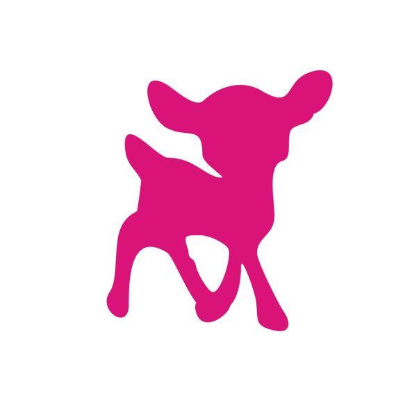 Mini  Bambi Velour Aufbügler in 24 Farben 239 von HeartyFrog, kr7.00