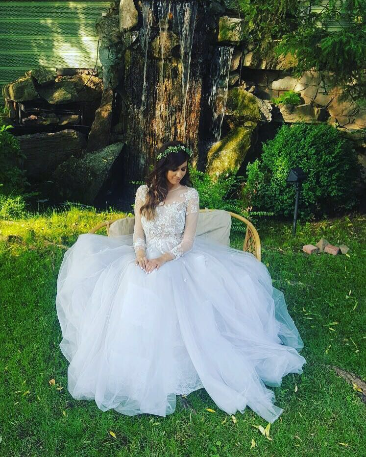 Our beautiful bride Cristina, in her Isabelle dress. #OtiliaBrailoiuAtelier #weddingdress
