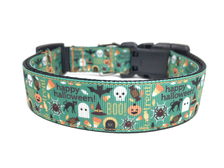 Halloween dog collar adjustable halloween dog collar