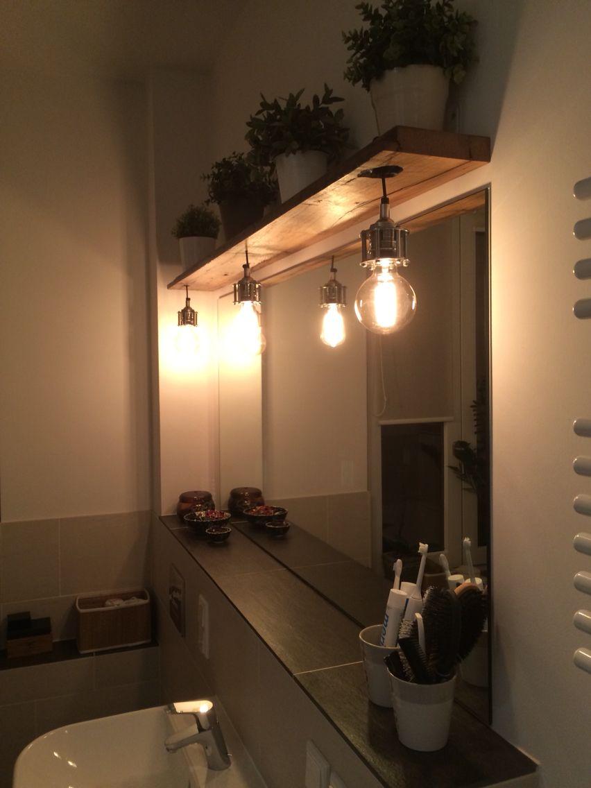 Badezimmerlampe Aus Alten Wagonbohlen Lampe Badezimmer