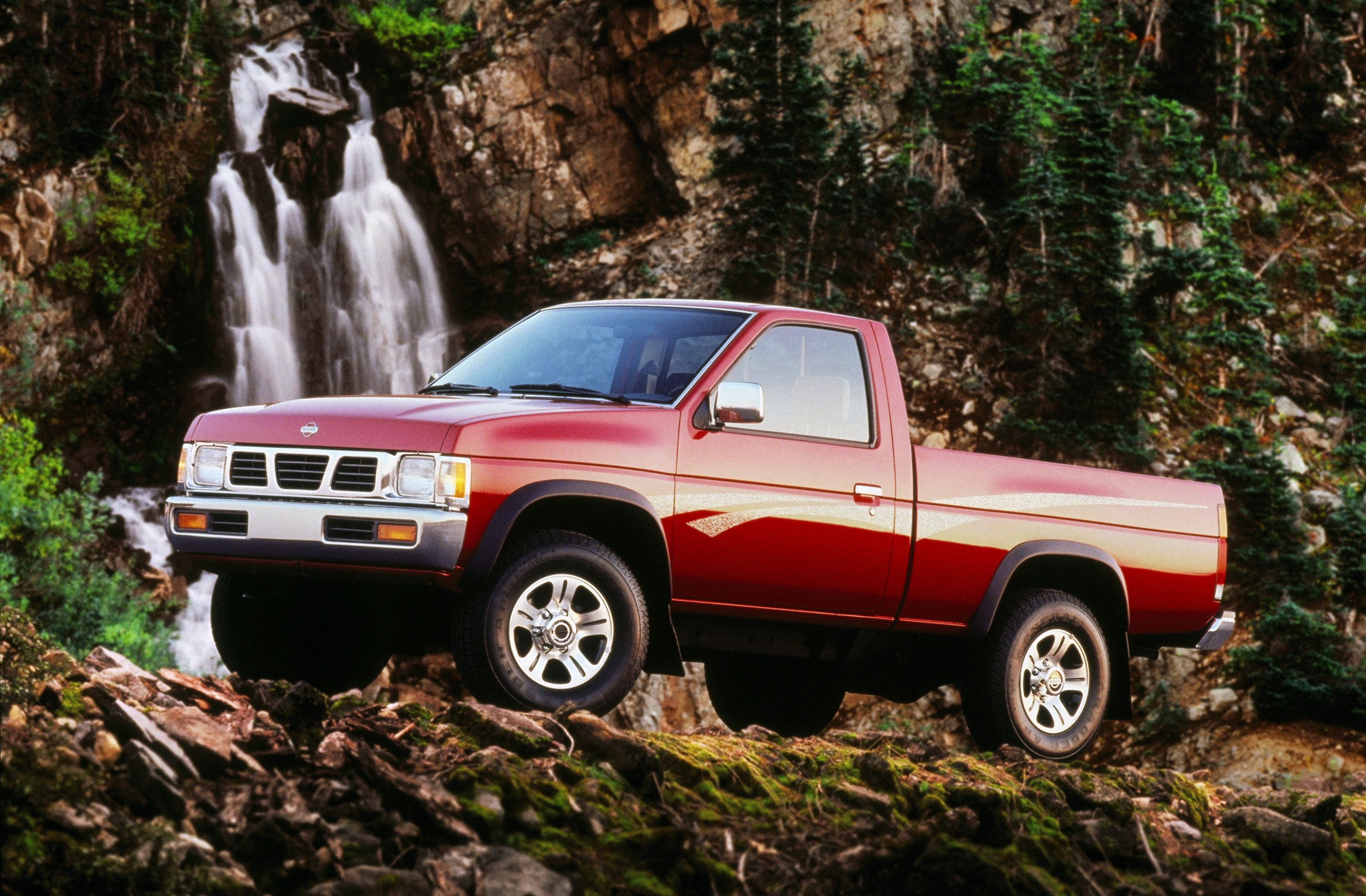 The 1997 Nissan Frontier pickup truck was a huge fan favorite, offering air  conditioning, AM/FM cassette stereo and aluminum-alloy wheels, all at no  added ...