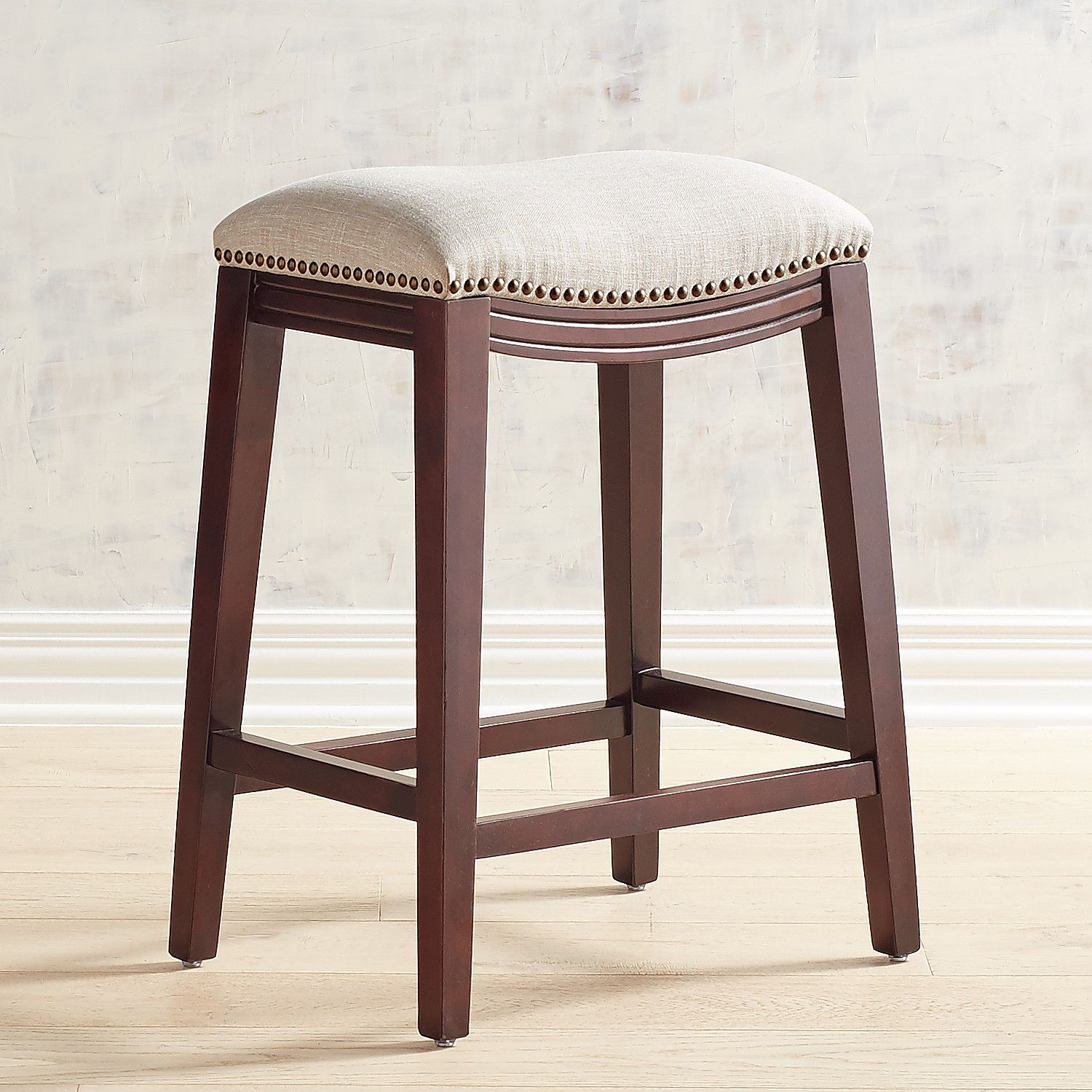 Super Halsted Poet Flax Upholstered Backless Counter Stool With Beatyapartments Chair Design Images Beatyapartmentscom