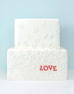 Fondant- The Wedding Cake Blog: (Trend) Alphabet Wedding Cakes