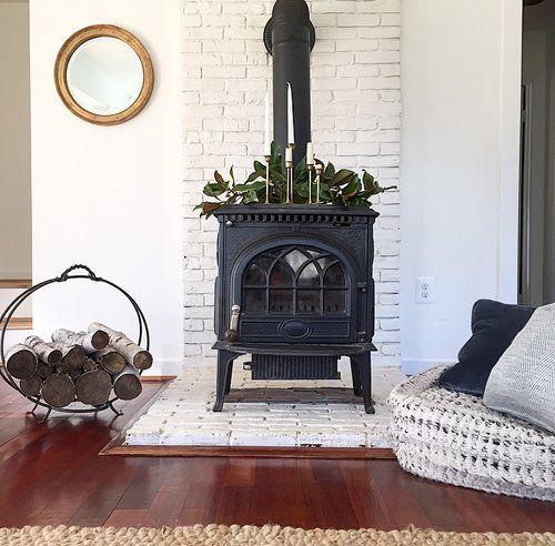 Choux Designs Modern Farmhouse Living Room Farmhouse Farmhousestyle Farmhouse Wood Burning Stoves Living