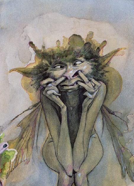 Haha. Brian Froud, from the Pressed Faeries book.