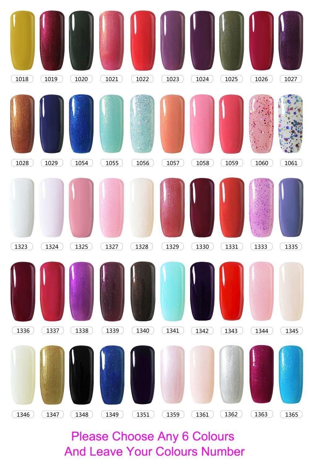 Belle Fille Uv Led Soak Off Nail Gel Polish Professional Colours Top Base Coat Ebay Acrylic Nail Polish Acrylic Nail Shapes Gel Nails