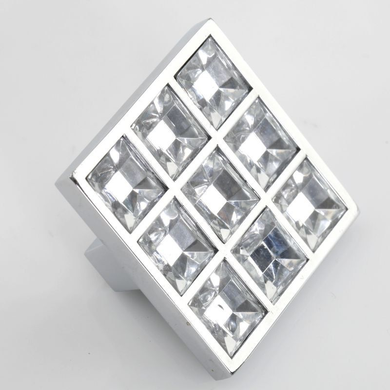 Crystal Knob Glass Knobs Dresser Knob Clear Square Drawer Knobs