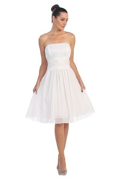 A Simple Short Dress From Star Box For A Less Formal Wedding