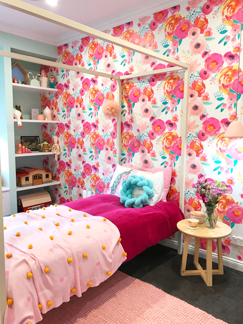 April's Colourful and Floral Girl's Room by Pink