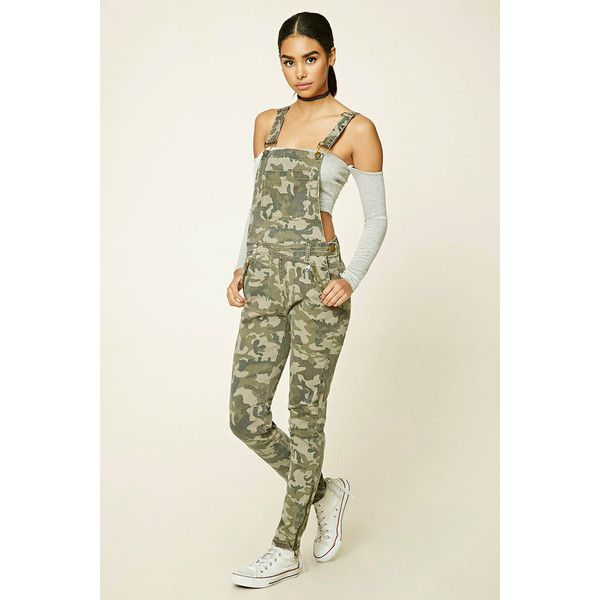 Forever 21 Womens Camo Print Overalls 35 Liked On Polyvore