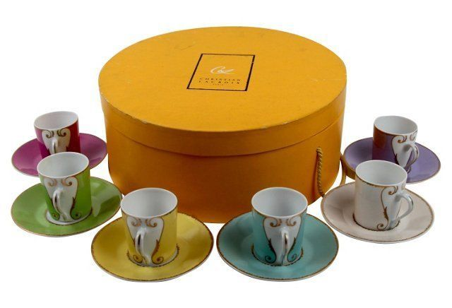 omg. i've been looking for these forever!!//Christian Lacroix Cups & Saucers Tea Set