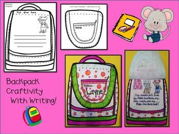 IF YOU TAKE A MOUSE TO SCHOOL- BACK TO SCHOOL FUN WITH MOUSE! - TeachersPayTeachers.com