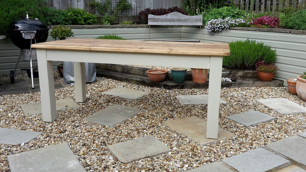 These Lovely outside Farmhouse Tables have been carefully hand crafted from reclaimed wood which holds so much character and charm...