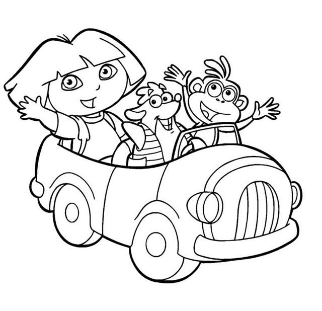 FUN \ LEARN  Free worksheets for kid รวมภาพระบายสี free coloring - new dora christmas coloring pages free printable