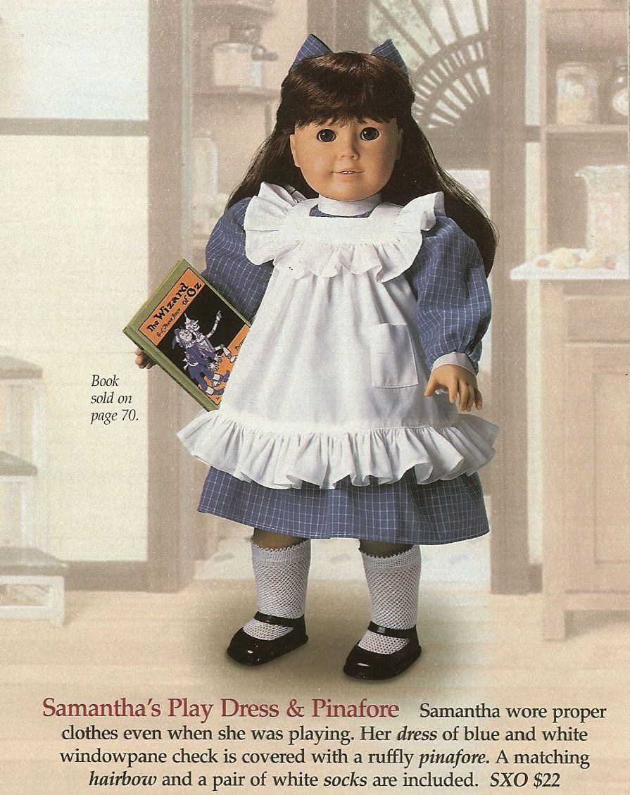 "White Victorian Tea Party Dress Doll Clothes for 18/"" American Girl Samantha"