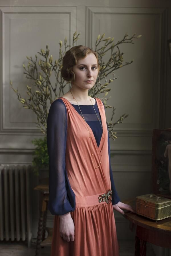Edith, oh Edith. Spending the night with a man. 'Downton Abbey'