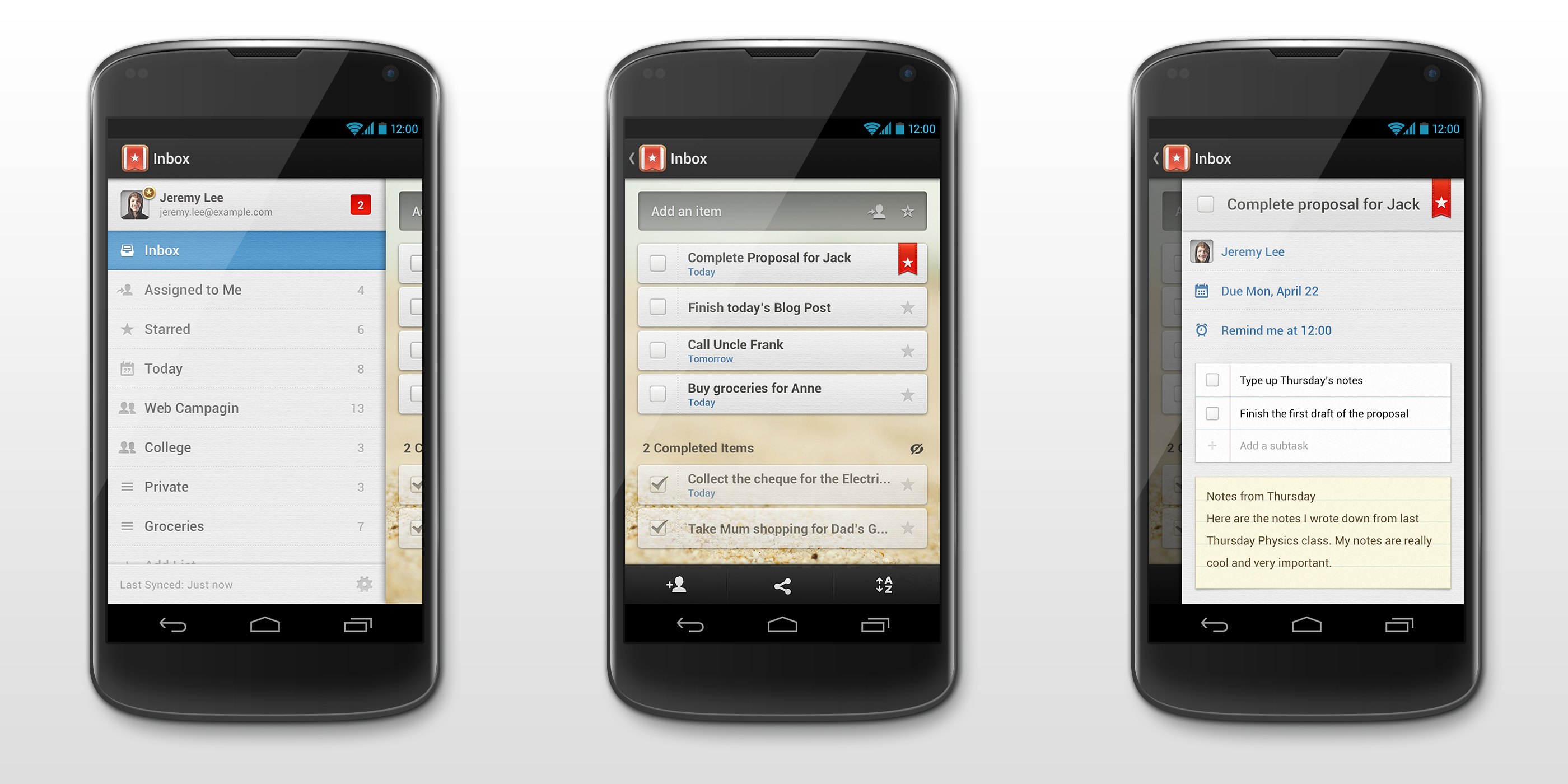 Wunderlist Android Action Bar / Timothy | Mobile: Android