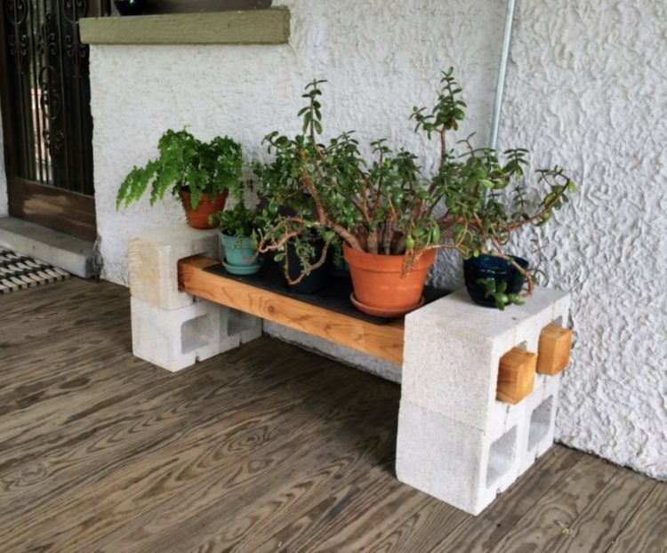 Diy Plant Stand Ideas For Dramatic Look At Home Morflora Plant Stands Outdoor Plant Shelves Outdoor Cinder Block Garden