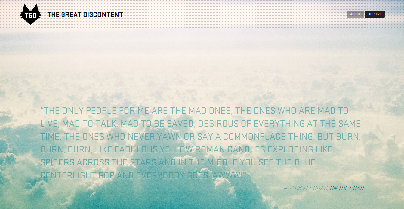 The Great Discontent - About