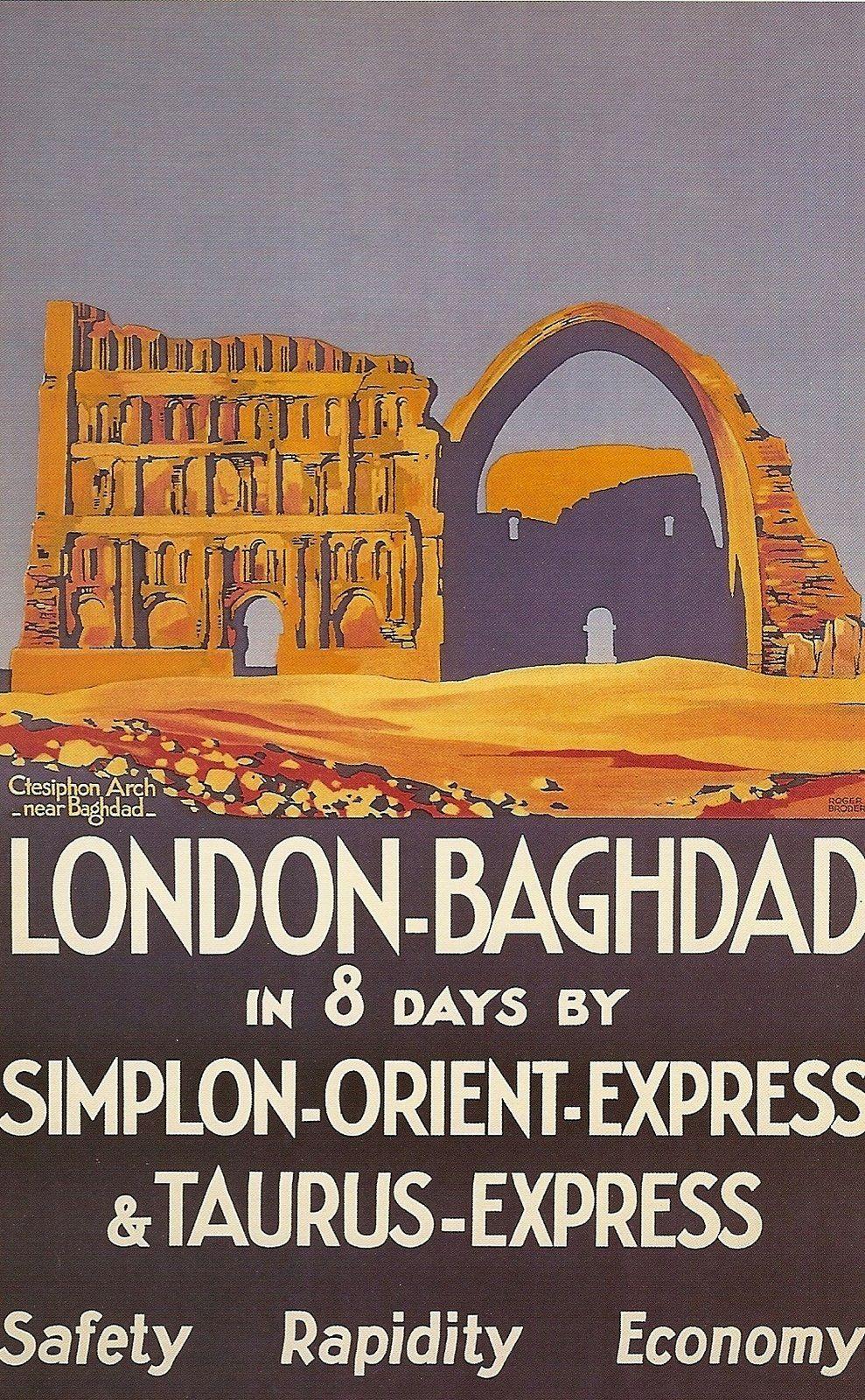 Kunstplakate Kunst Venice Simplon Orient Express Vintage Travel Poster Tourism old Retro Print