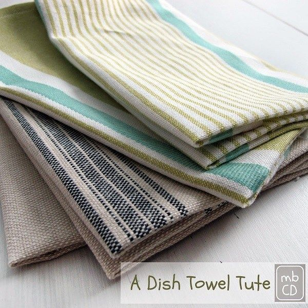 Tutorial: Sew up some pretty dish towels #dishtowels