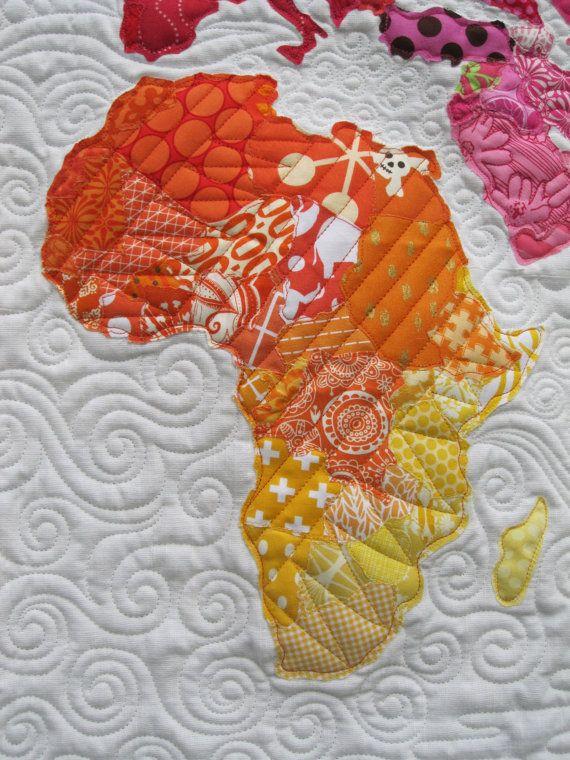 World Map Quilt Pattern | crafty | Map quilt, Quilt patterns, Pattern