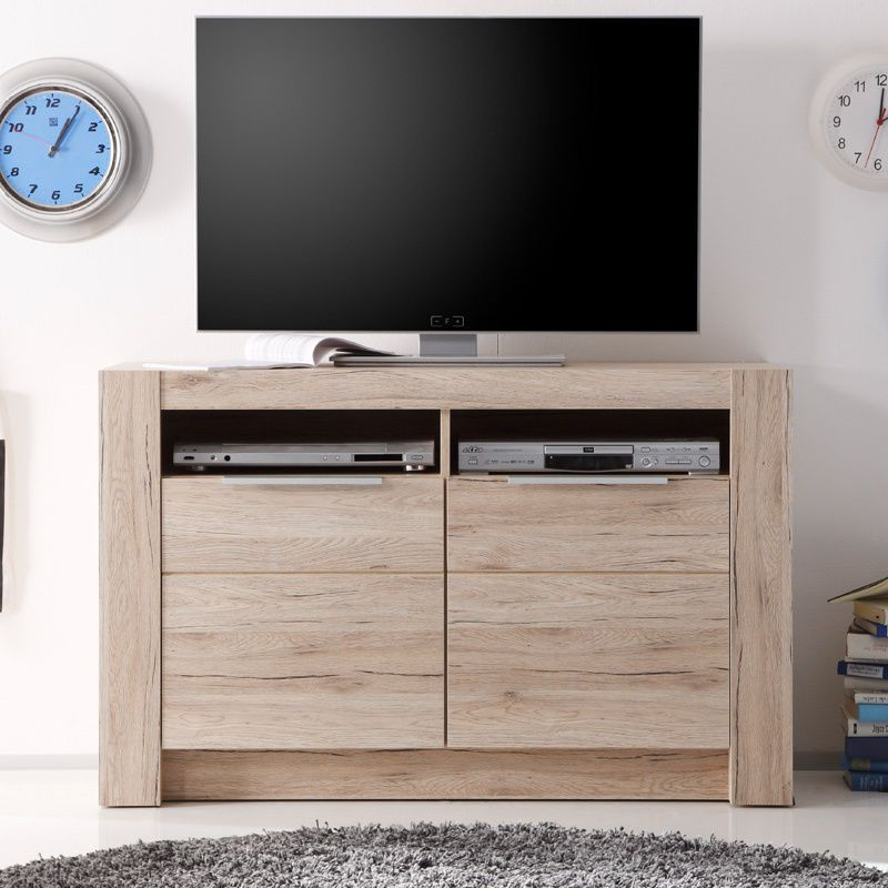 Lowboard Eiche San Remo Tv Lcd Fernsehtisch Hifi Rack Wohnzimmer Fernsehschrank In Mobel Wohnen Mobel Tv Hifi Ti Fernsehschrank Wohnzimmer Wohnzimmer Tv