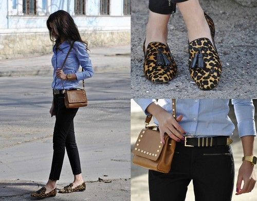 leopard print loafers | Loafers outfit