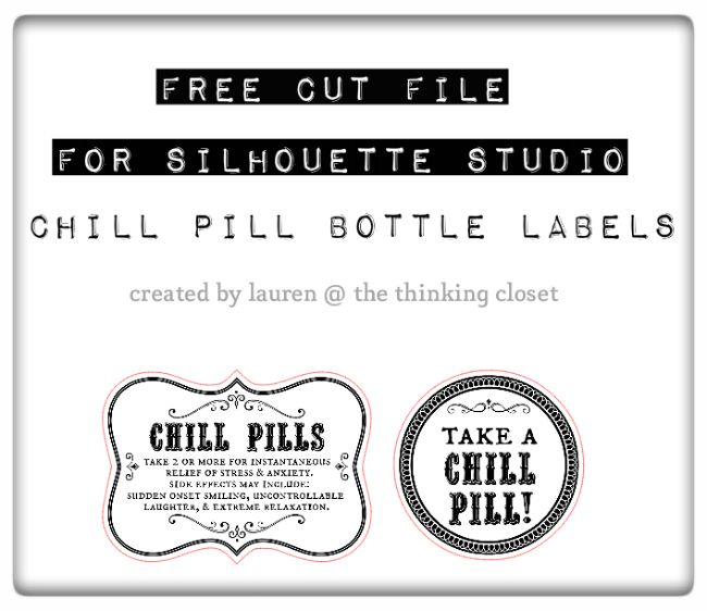 photo relating to Printable Chill Pill Label named Chill Supplements Gag Present Absolutely free Printable Labels Items I