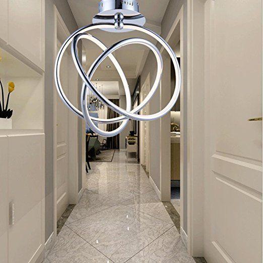 RISHENG 27w Moderne Kreative Persönlichkeiten LED Acryl Decke Lampe  Schlafzimmer Esszimmer Arbeitszimmer Decke Lampe 45 Cm