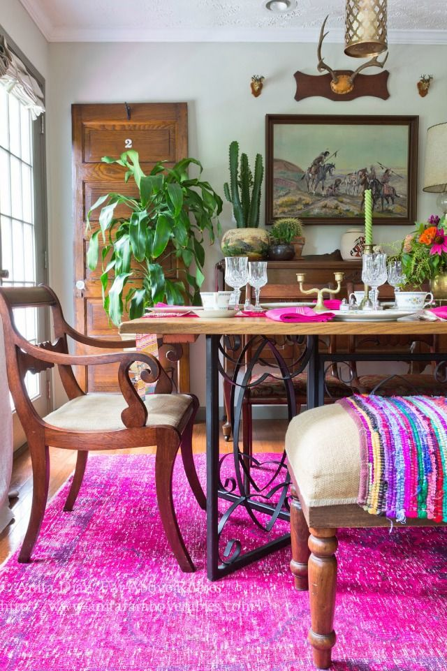 Eclectic Home Tour Far Above Rubies Boho Dining Room Dining