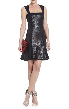Noelle Fitted Sequined Flounce #Dress #BCBG