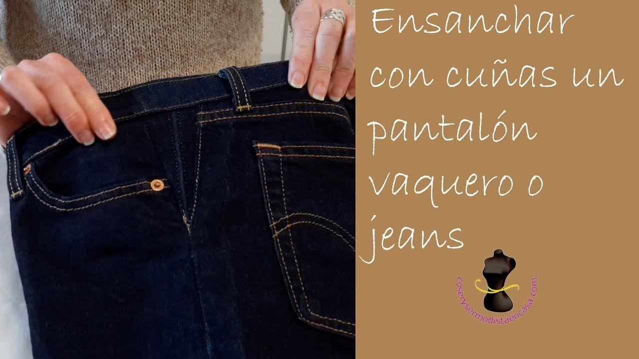 caa66b041 Ensanchar con cuñas un pantalón vaquero o jeans - Widen a jeans with wedges  - YouTube
