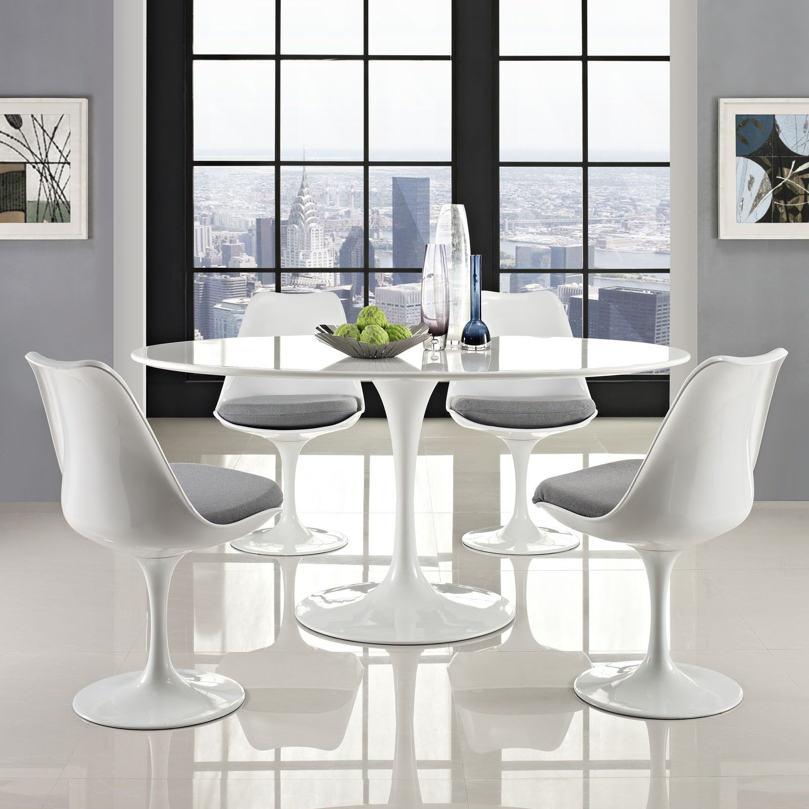 Lore Oval Dining Table White Tulip Dining Table White Dining Table Modern Dining Table