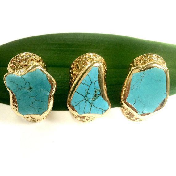 70% OFF SALE turquoise cuff rings cuffs turquoise by TuscanyGems