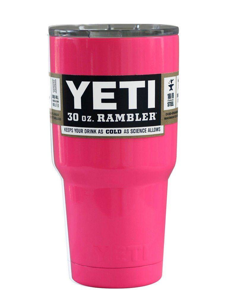 a31b473ab65 Pink Yeti Rambler Tumbler Coolers Cups 30oz Cooling Cup, Stainless Steel  Car Cup Hot Pink Yeti Rambler in a 30 oz. This colored Yet is powder coated  for a ...