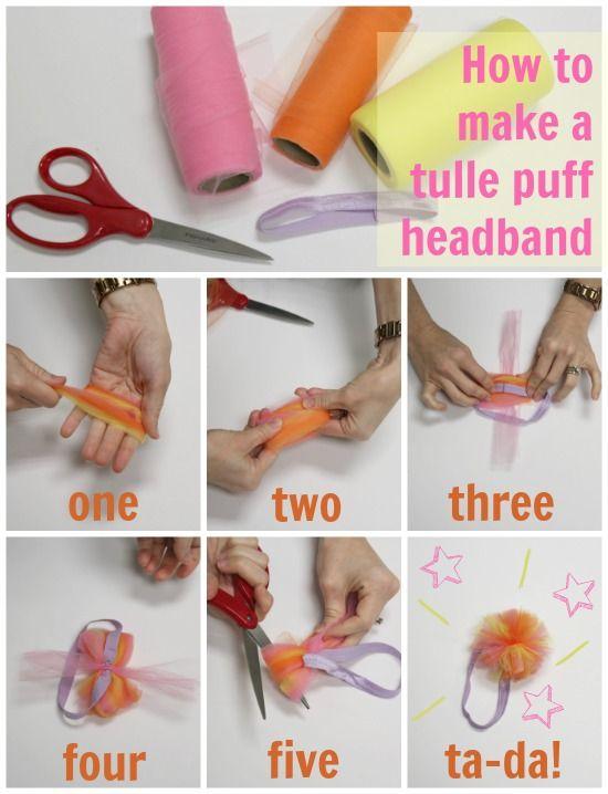 DIY Tulle Puff Headband   Tulle Knot Headband  b074010fc2f