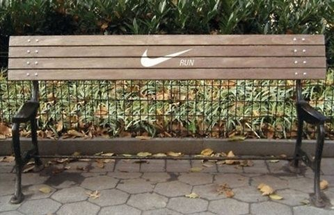 Nike Bench Advertisements Encourage Runners To Keep Going