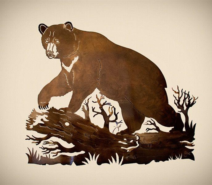 Bear Metal Art Black