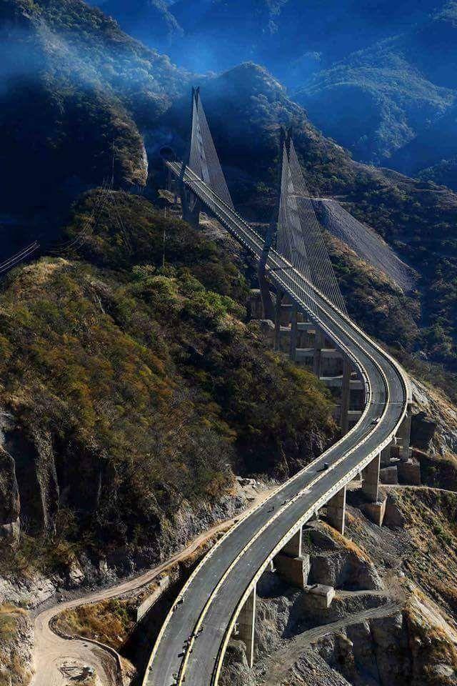 Puente Baluarte En Carr Durango Mazatlán Mexico Bridge Mexico