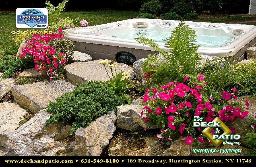 hot+tub+landscaping   2007 Awards Photo Album   Deck and Patio Company, Long Island, NY