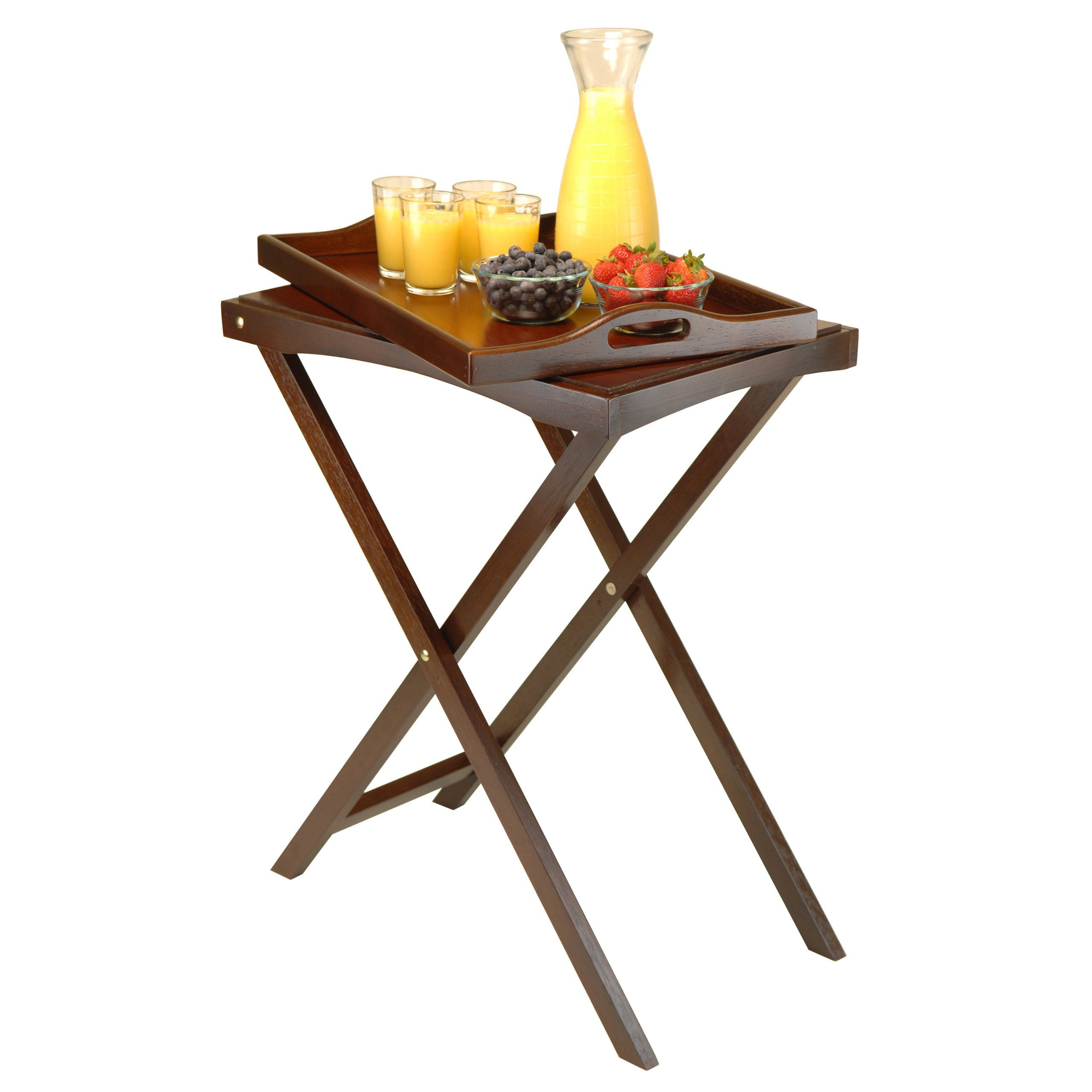 Amazon Com Winsome Wood Devon Butler Tv Table With Serving