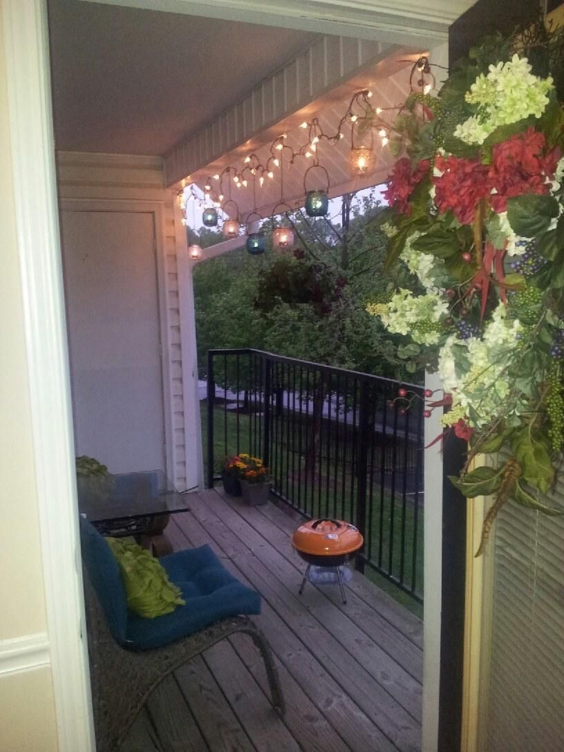 Apartment Chic. Patio decorating idea | Patio, Patio ... on Apartment Backyard Patio Ideas  id=64385