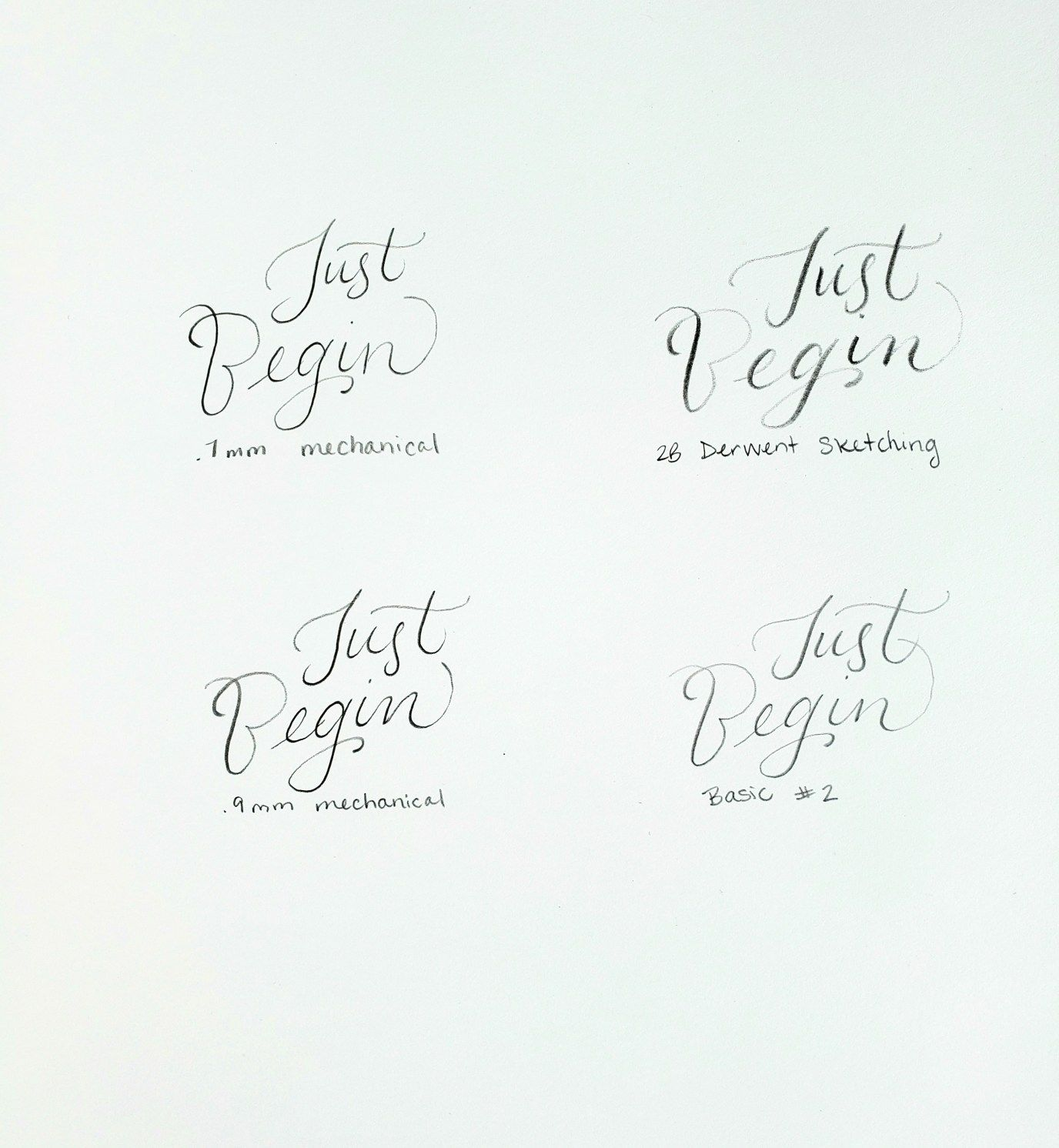 Easy Calligraphy With A Pencil
