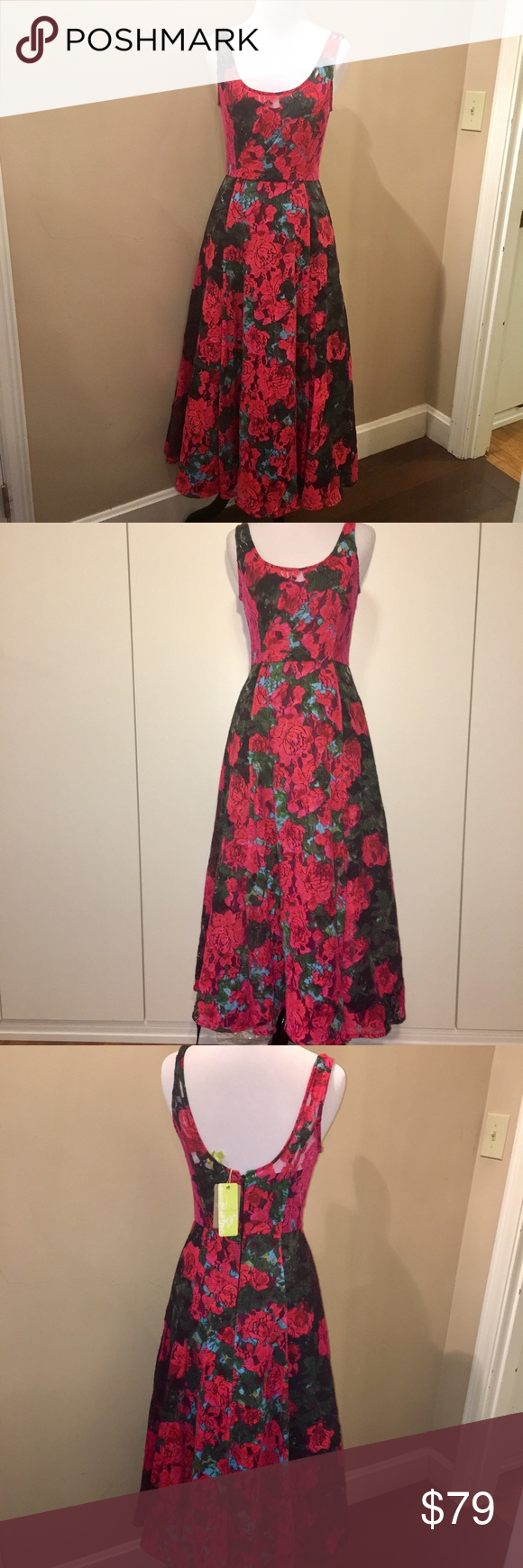 Lace flowery dress, Tracy Reese for Anthropology Anthropology Tracy Reese dress. This is a gorgeous dress, wish I could fit it . Many layers at the skirt part gives it a romantic look. Size 2 Anthropologie Dresses Maxi